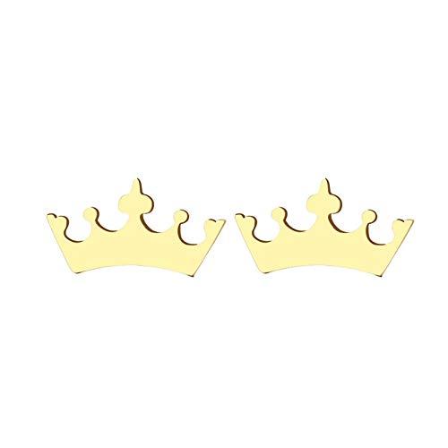 Boucle D'oreille En Acier Inoxydable Pour Femmes Homme Bande Dessinée Couronne Or Et Argent Couleur Amant Bijoux De Fiançailles