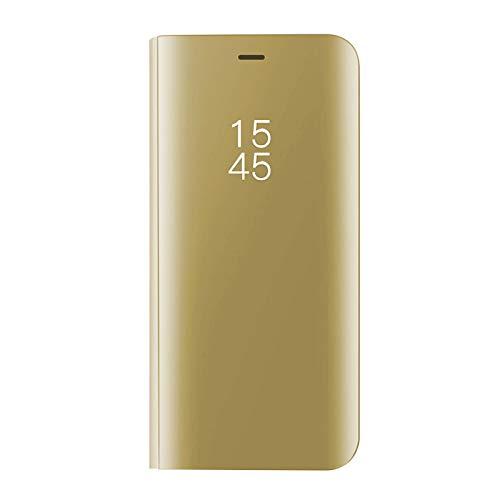 Huawei Mate 10 Lite specchietto Flip Cover,Standing Clear View specchio riflettente brillante Ultra...