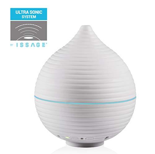 Issage – DIPROF - Humidificador, Difusor de Aromaterapia, Difusor de Aceites Esenciales, purificador de Aire LED 5 Colores Cromoterapia en el Hogar