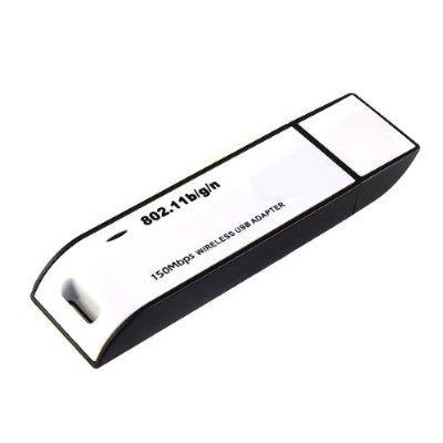 Importer520 WiFi Wireless IEEE 802.11N/G/B WLAN 150Mbps Network Adapter USB2.0 Wireless Lan USB Adapter for Laptop Noteook Desktop PC Suport Vista/Windows 7(32bit & 64bit)/Linux