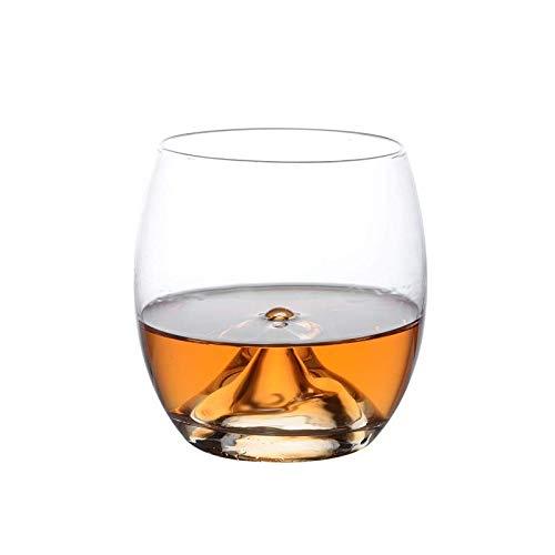 FEJK Verre de Whisky en Verre de Cristal épaissi à la Chaleur résistant e à la bière en Verre Tasse de Bar Bar à vin vin vin 300ml Coupe du Volcan