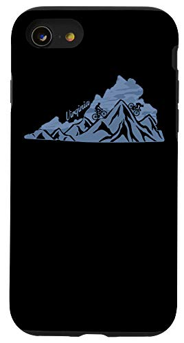 iPhone SE (2020) / 7 / 8 Virginia Mountain Bike Riding VA Biking State Blue Ridge Map Case
