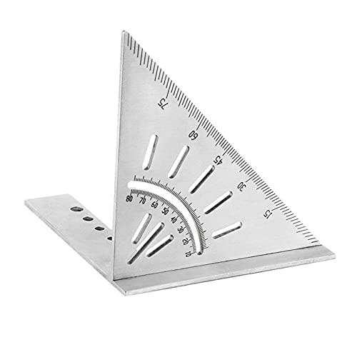 Regla de ángulo Combinado, Regla de ángulo Ajustable, Calibre de ángulo Recto para carpintería de Acero Inoxidable 90/45 Grados Regla de medición de Carpintero
