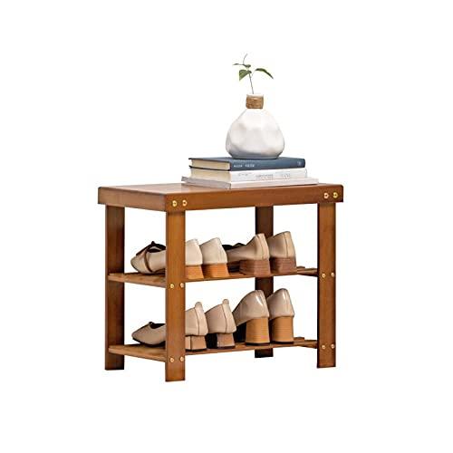 Lzcaure Zapatero de 3 niveles para zapatero de madera, organizador de almacenamiento de gabinete, caja de soporte de pasillo, sala de estar y baño