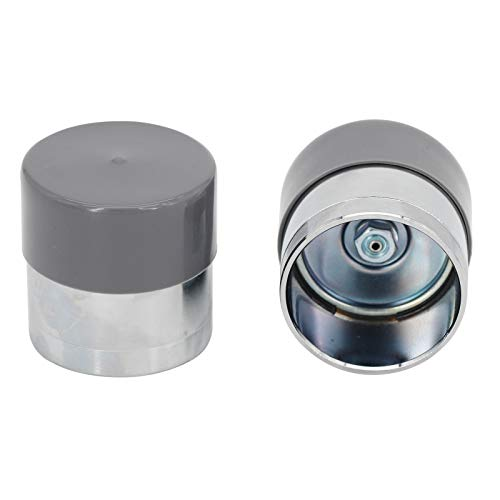 ELSOON Bearing Buddy Wheel Bearing Grease Bearing Buddy Caps Trailer Wheel Bearing Protectors Dust Covers - Grey and Chrome 1.98-Inch 1 Pair