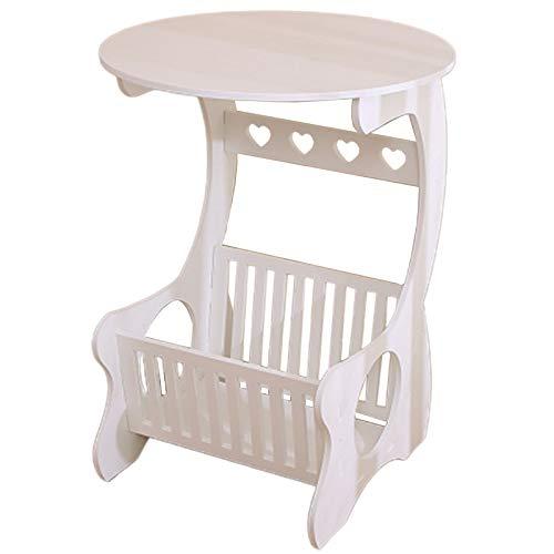 Lopbinte Estante de almacenamiento de mesa hueco tallado madera estante de almacenamiento mesa de café mesa de té escritorio multifunción ocio revista
