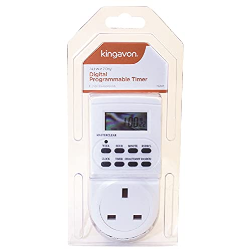 Electronic digital mains Timer Socket Plug-in with LCD Display 12/24 Hour 7...