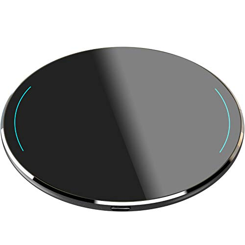 TOZO W1 Wireless Charger Ultra Thin Aviation Aluminum CNC Unibody Fast Charging Pad Black (NO AC Adapter)