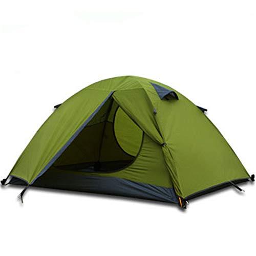 YFGRD Leichtes Campingzelt Doppelschichtiges Wurfzelt mit Tragetasche,Trekkingzelt mit Vordach für 4 Personen, schnell aufbaubares Camping Zelt,Grün