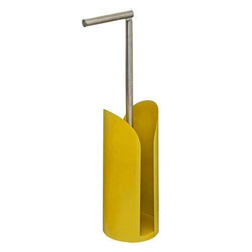 Five - Dérouleur de Papier WC avec réserve en métal Jaune