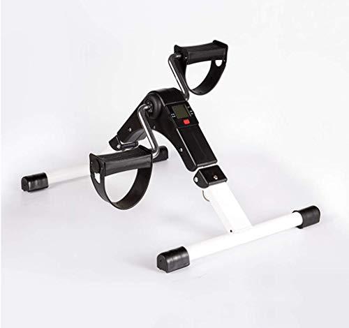 HUJPI Faltbar Minifahrrad, füR Zuhause Und BüRo Heimtrainer Arm- Und Beintrainer Pedaltrainer Beintrainer mit LCD-Display,Black