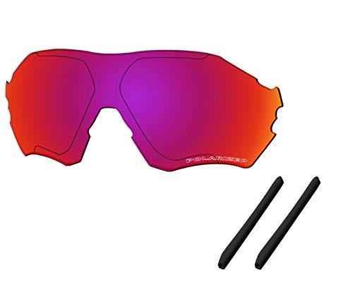 Saucer Premium Replacement Lenses & Earsocks for Oakley EVZero Range OO9327 Sunglasses High Defense - Midnight Sun Polarized