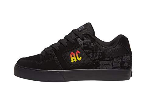 DC Pure Skateschuh für Herren, Schwarz (AC/DC Black/Dk Grey), 45 EU
