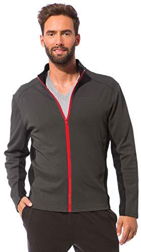 Morgenstern Strickjacke Herren aus Baumwolle grau in M zweifarbig Jersey-Jacke Fitness-Jacke komfortabel Soft für Jungs für Laufen