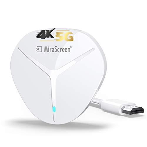 AT-Mizhi Wireless HDMI Display Adapter, 4K HDR HDMI WiFi Streaming Dongle Bildschirm teilen Anzeigeempfänger Unterstützung für Miracast/DLNA/Airplay für Android/iOS/Windows/Mac OS/Monitor/Projektor