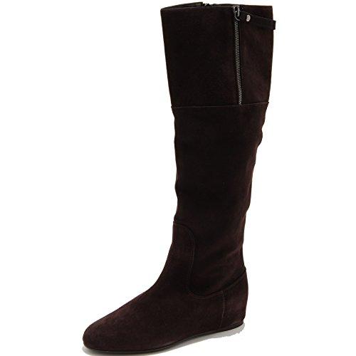 Stuart Weitzman 64295 Stivale Suede Brown Scarpa Donna Boots Shoes [35]