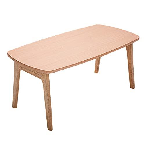 Coffee Tables Sedile da caffè Rettangolare in Legno massello, tavolino da caffè Pieghevole Semplice, Tavolo Centrale Rettangolare in Soggiorno Moderno, tavolino da casa