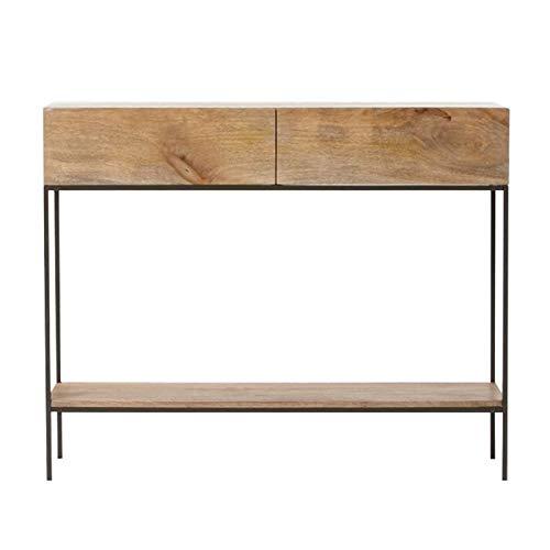 Mesa de consola de madera maciza con cajones, mesa de consola de...