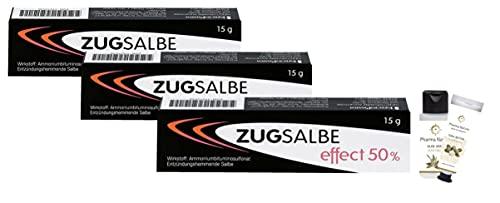 Infectopharm Zugsalbe effect 50%, 15 g Salbe Sparset mit 3 x 15 g und 1 x Pflegeprodukt der Marke Pharma Nature