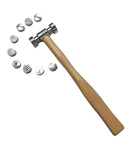10-1/2 '9 en 1 caras intercambiables que texturan el metal que forma el martillo de la joyería