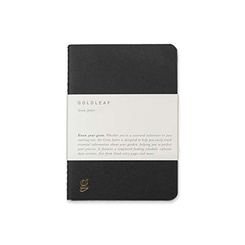 Goldleaf Grow Jotter: A Cannabis Grower's Pocket Journal, Marijuana Cultivation Notebook, Daily Gardening Diary, A6 Size