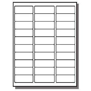 FBA Laser / Ink Jet Labels, for Bar Code, Asin #, Box Labels, Pallet Labels (50 Sheets 30 Up Labels = 1500 Labels)