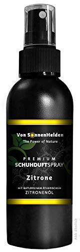 """(9,98€/100ml) Premium Schuhdeo Schuhduft Spray\""""Zitrone\"""" 150ml • Mit natürlichem ätherischen Zitronenöl - ohne Alkohol. Langanhaltend, Intensiv, Geruchsneutralisierend, Wohlduftend."""