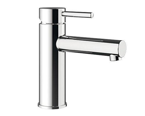 Blanco KARIA-WT, Waschtischarmatur, Einhebelmischer für Badezimmer, Wasserhahn für Bad-Waschbecken, Oberfläche chrom - mit Ablaufgarnitur