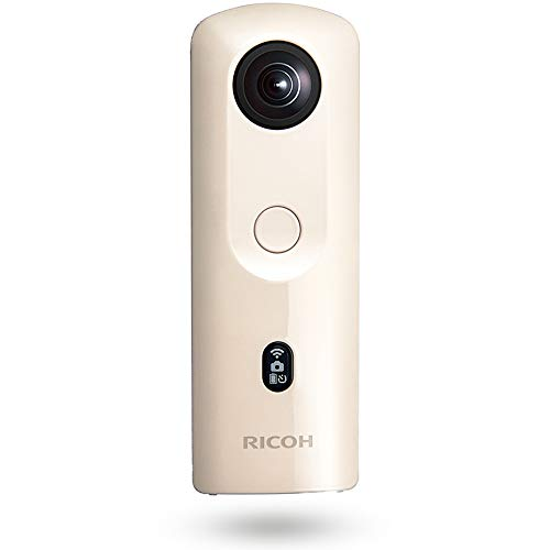 RICOH THETA SC2 BEIGE ベージュ 360度全天球カメラ 360°手振れ補正機能搭載 4K動画 進化したHDR合成機能 (THETA SC比 2.4倍の処理速度アップ、最新のアルゴリズムにより室内の撮影でよりナチュラルな絵作り) 高速WiFi転送 精度の高い自然なスティッチング 910802