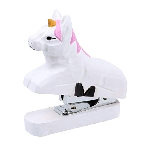 TOYANDONA Grapadora Animal Mini Grapadora de Escritorio Grapadoras Manuales de Dibujos Animados Lindo Papelería Útiles de Oficina Accesorios Escolares para Niños Regalo de Cumpleaños (Unicornio)