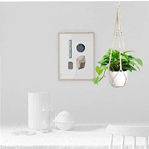 NIDONE Cuerda de suspensión de la Planta Colgante Maceta de Flores Canasta de algodón Plataforma cordón de Tejido doméstico en el Interior de 90 cm