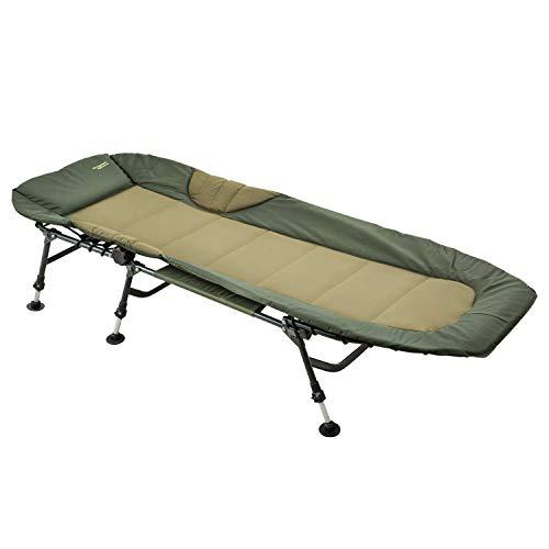 MK-Angelsport Angelliege Karpfenliege Relax bis 150 kg belastbar Nightdreamer Bedchair Liege Gartenliege