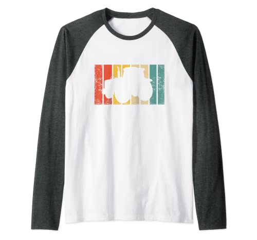 Tractor Retro Granjero - Agricultura De Época Camiseta Manga Raglan