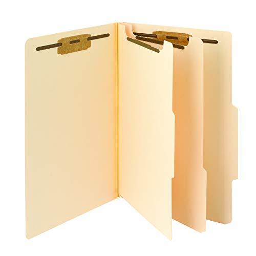"Smead Classification File Folder, 2 Dividers, 2"" Expansion, 2/5-Cut Tab, Legal Size, Manila, 10 per Box (19000)"
