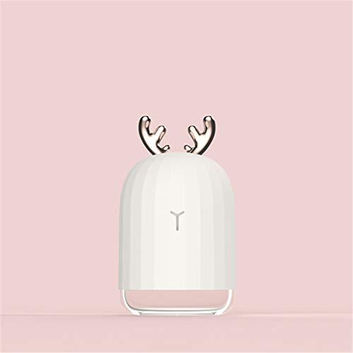 220ML Ultraschall-Luftbefeuchter LED-Nachtlicht Kleine kreative Sprayer für Auto-Haushalt USB Atomizer Nebelmaschine,Weiß