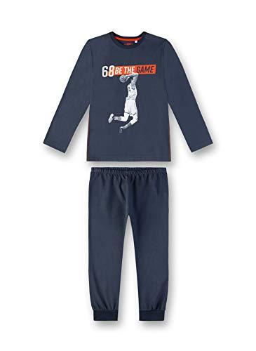Sanetta Jungen Pyjama Zweiteiliger Schlafanzug, Blau (Slate Blue 5337), (Herstellergröße: 128)