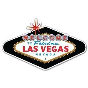 "Las Vegas Nevada car bumper sticker decal 5"" x 3"""