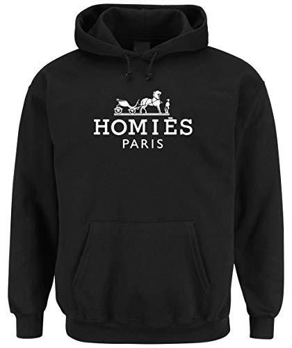 Certified Freak Homies Paris Hooded-Sweater Black S