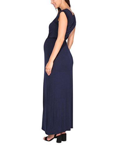 KRISP Vestido Mujer Tallas Grandes Largo Barato Casual Ibicenco De Día Ropa Hippie Online Ofertas, (Azul Marino (3269), 36 EU (08 UK)), 3269-NVY-08