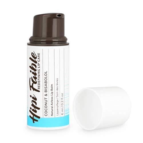 Hipi Faible - Naturkosmetik Lippenpflege im Pump-Spender - COCONUT & BISABOLOL - 100% natürlich - 6 ml