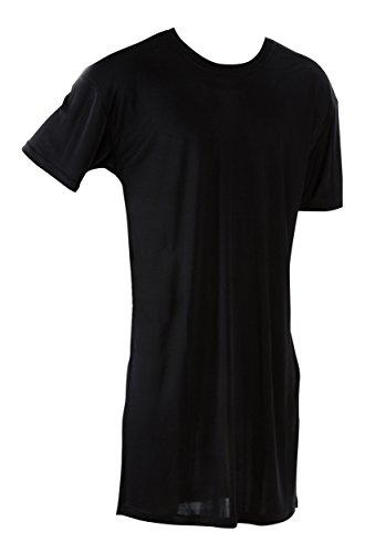 SUPERIOR NATURALS, Nachthemd, Sleepshirt, Herren, 100% Seide, Interlock, Schwarz, XXL