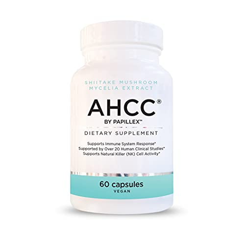 Papillex AHCC Supplement - Maximum Strength -Natural Immune Support Extract - Maintains Natural Killer Cell Activity -20+ Human Research Studies - 60 Veggie Capsules(1 Pack)