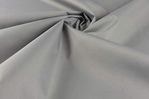 Tela de lona de poliéster impermeable para jardín, exteriores, cubierta de tela de PVC resistente al viento, tela de alta calidad resistente al agua, se vende por medio metro Gris claro