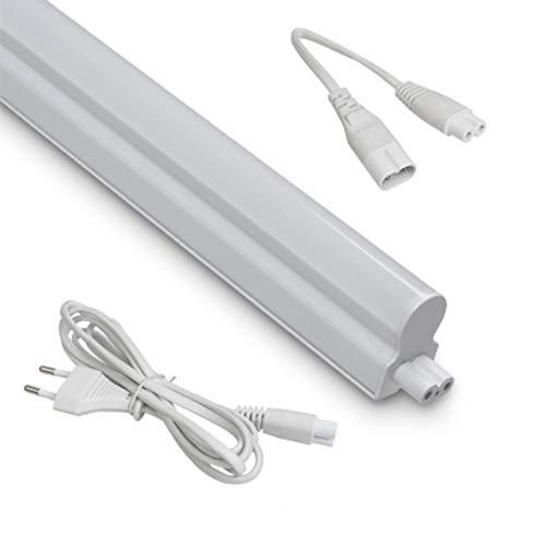 Pack 3x Luz LED bajo armario con interruptor 30 cm 4 W 400 lm. Instalación en serie o individual. Interruptor encendido/apagado. 4.000 K blanca neutra. Iluminación encimera cocina, taller. Clase A++
