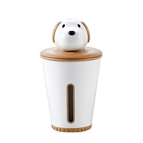 Brown aroma etherische olie diffuser hond luchtbevochtiger luchtreiniger LED nachtlampje mini USB fogger auto ultrasone puppy luchtbevochtiger