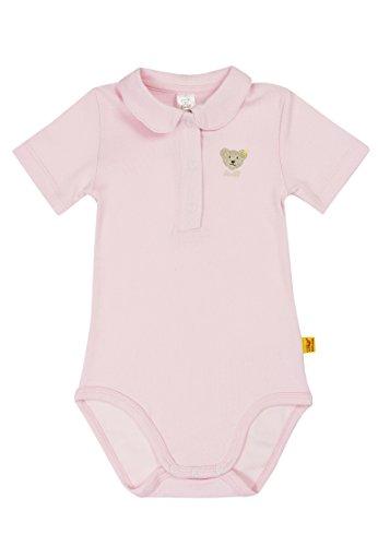 Steiff Unisex - Baby Body 0008683 1/2 Arm, Einfarbig, Gr. 98, Rosa (Barely Pink)
