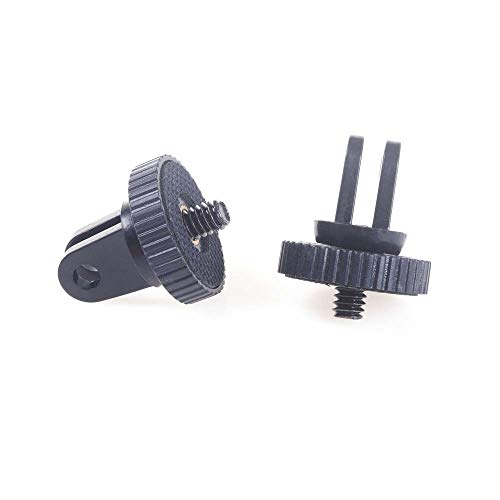 2pcs Mini Tripod Mount Adaptor 5mm 1/4 Screw Head Adapter for GoPro...