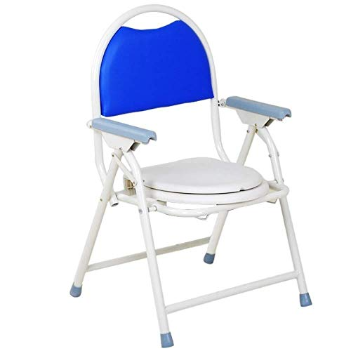 Bathroom Wheelchairs RRH Bedside Commodes Wheelchairs Commode Foldable Commode Elderly Pregnant Disabled Non-Slip Toilet Seat Bathroom Bath, Blue
