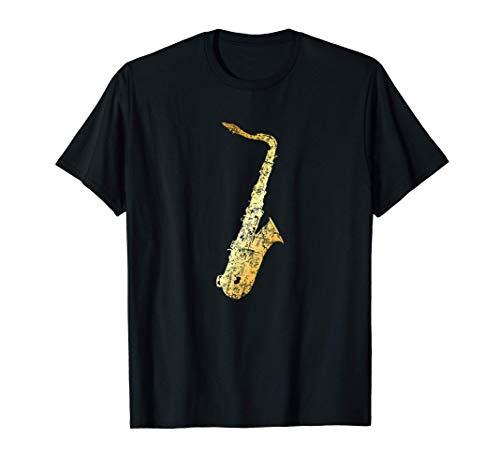 Tenor Sax (Vintage Gelb) Saxophonist Saxophon T-Shirt
