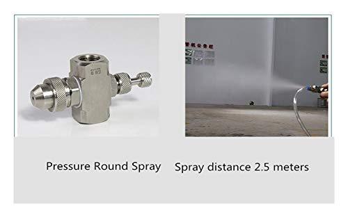 """SANKUAI LT-Home, 1PC 1/4""""Air en Acier Inoxydable Atomisation Atomisation Atomatisation Réglable Atomise Atomise Humidification Buse de mélange à gaz à gaz Deux-Fluide (Taille : Pressure Round Spray)"""